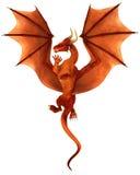 Dragon rouge de danse Image libre de droits