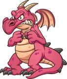 Dragon rouge fâché illustration de vecteur