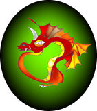 Dragon rouge oriental Images stock