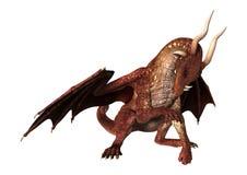 Dragon rouge sur le blanc Photos libres de droits