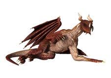 Dragon rouge sur le blanc Photo libre de droits