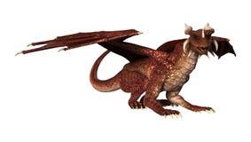 Dragon rouge sur le blanc Photo stock