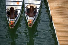 Dragon Rowing Boats Royalty Free Stock Images