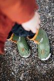 Dragon Rubber Boots Immagine Stock