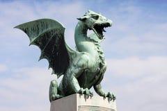 Dragon's bridge in Ljubljana Stock Photos