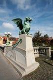 Dragon's bridge in Ljubljana Royalty Free Stock Photos