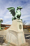 Dragon's bridge in Ljubljana Stock Image