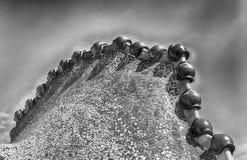 Dragon' s de boog van het stekeldak van Casa Batllo, Barcelona, Catalonië, S stock afbeelding