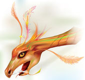 Dragon`s head like a pterodactyl Stock Images