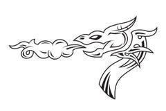 Dragon's head tattoo Royalty Free Stock Photo