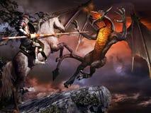 Dragon's last fight Stock Photography