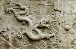 Dragon's relief : chinese royal totem Royalty Free Stock Photography