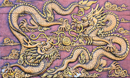 Dragon's relief : chinese royal totem Royalty Free Stock Image