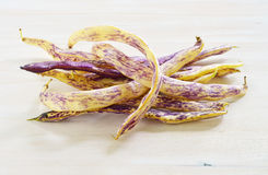 Dragon's Tongue beans Stock Photo