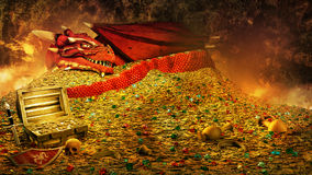 Dragon's treasure Stock Photos
