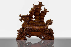 Dragon sailboat. Is wood,Sailboat of Chinese Royalty Free Stock Photos