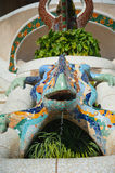 Dragon salamandra of gaudi mosaic Stock Photography