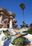 Dragon salamandra of gaudi in park guell. Dragon salamandra of gaudi mosaic in park guell of Barcelona royalty free stock photos