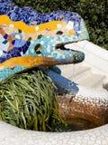 Dragon salamandra of gaudi  in park guell. Dragon salamandra of gaudi mosaic in park guell of Barcelona Stock Image