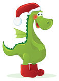 Dragon - Santa  Claus Stock Photos