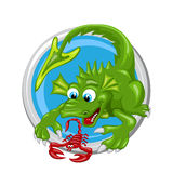 Dragon Scorpio Zodiac-teken Royalty-vrije Stock Afbeeldingen