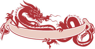 Dragon Scroll Stock Image