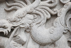 Dragon sculpture Royalty Free Stock Photography