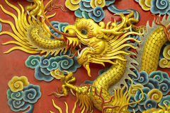 Dragon sculpture  in the china temple Stock Image