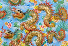 Dragon sculpture chinese style Royalty Free Stock Photos