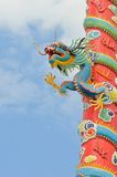 Dragon sculpture chinese style Royalty Free Stock Photo