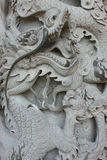 A dragon sculpture. Stock Photography