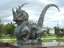 Dragon sculpture stock photos