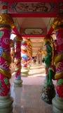 The dragon Sculpture climbing pole Royalty Free Stock Photos
