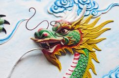 Dragon decoration of a temple in Vietnam stock image