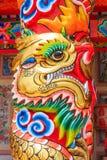 Dragon Sculpture en el pabellón chino Imágenes de archivo libres de regalías