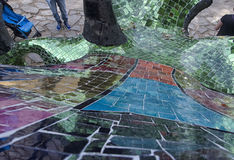 Dragon sculpture. Made up of colorful mosaics Royalty Free Stock Image