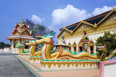 Dragon sculpture near the Buddhist temple Royalty Free Stock Image
