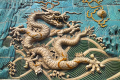 The dragon sculpture Royalty Free Stock Image