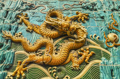The dragon sculpture Stock Photography