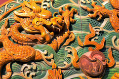 Dragon sculpture pattern Stock Image