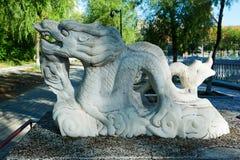 The dragon sculpture Royalty Free Stock Photos