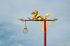 Dragon. Sculpture on the shrine or temple Royalty Free Stock Photography