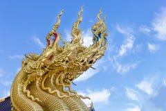 Dragon sculpture at Sri Pan Ton temple, Province Nan,Thailand Royalty Free Stock Image