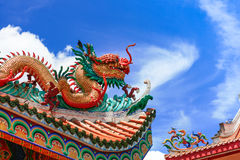 Dragon sculpture. Thailand travel temple Stock Images