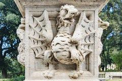 Dragon Sculpture, villa Borghese, Roma, Italia fotografia stock