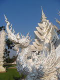 Dragon sculpture in White Temple Wat Rong Khun in Chiang Rai, Thailand Stock Images