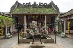 Dragon Sculptures At Hoi Quan Quang Trieu Temple (asino di cantonese Immagini Stock