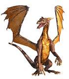 Dragon seated Stock Photo