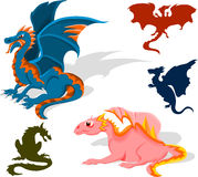 Dragon set Royalty Free Stock Photography