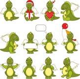 Dragon set Royalty Free Stock Image